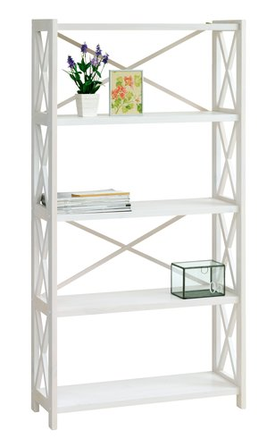 Shelving Unit RANUM 5 Shelves White JYSK