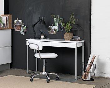 Skrivbord STEGE vit högglans