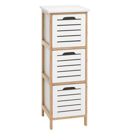 COD BROBY 3 drawers bamboo/white