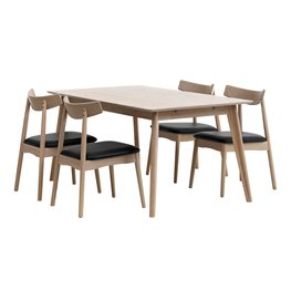Table KALBY + 4 chairs JUNGHOLM