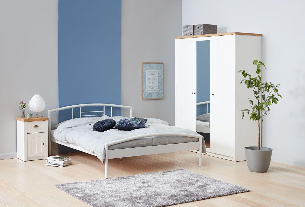 Rama łóżka Valsted 140x200cm Biała