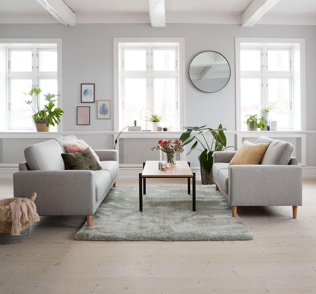 Moderne Sofagruppe EGENSE 2 stk. lysegrå | JYSK JX-45
