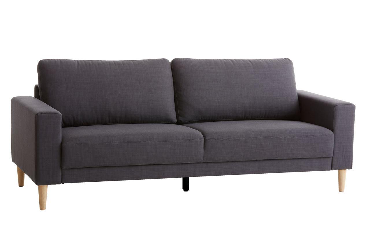 Rask Sofa EGENSE 3-pers. mørkegrå | JYSK KY-65