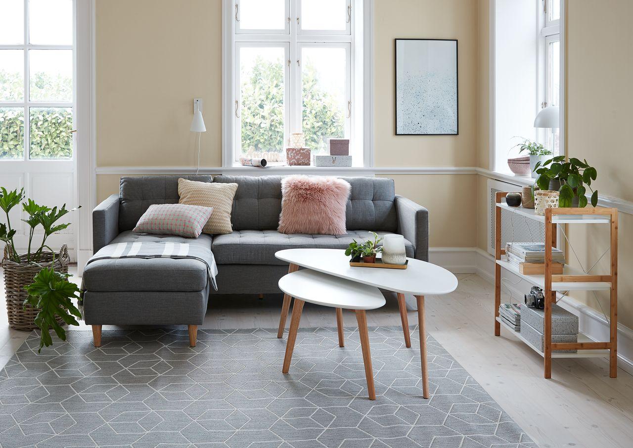 Sofabord LEJRE 60x120 hviteik   JYSK