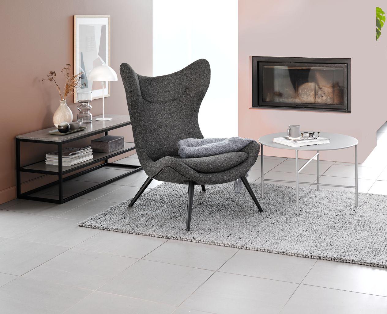TV bord DOKKEDAL betongsvart | JYSK