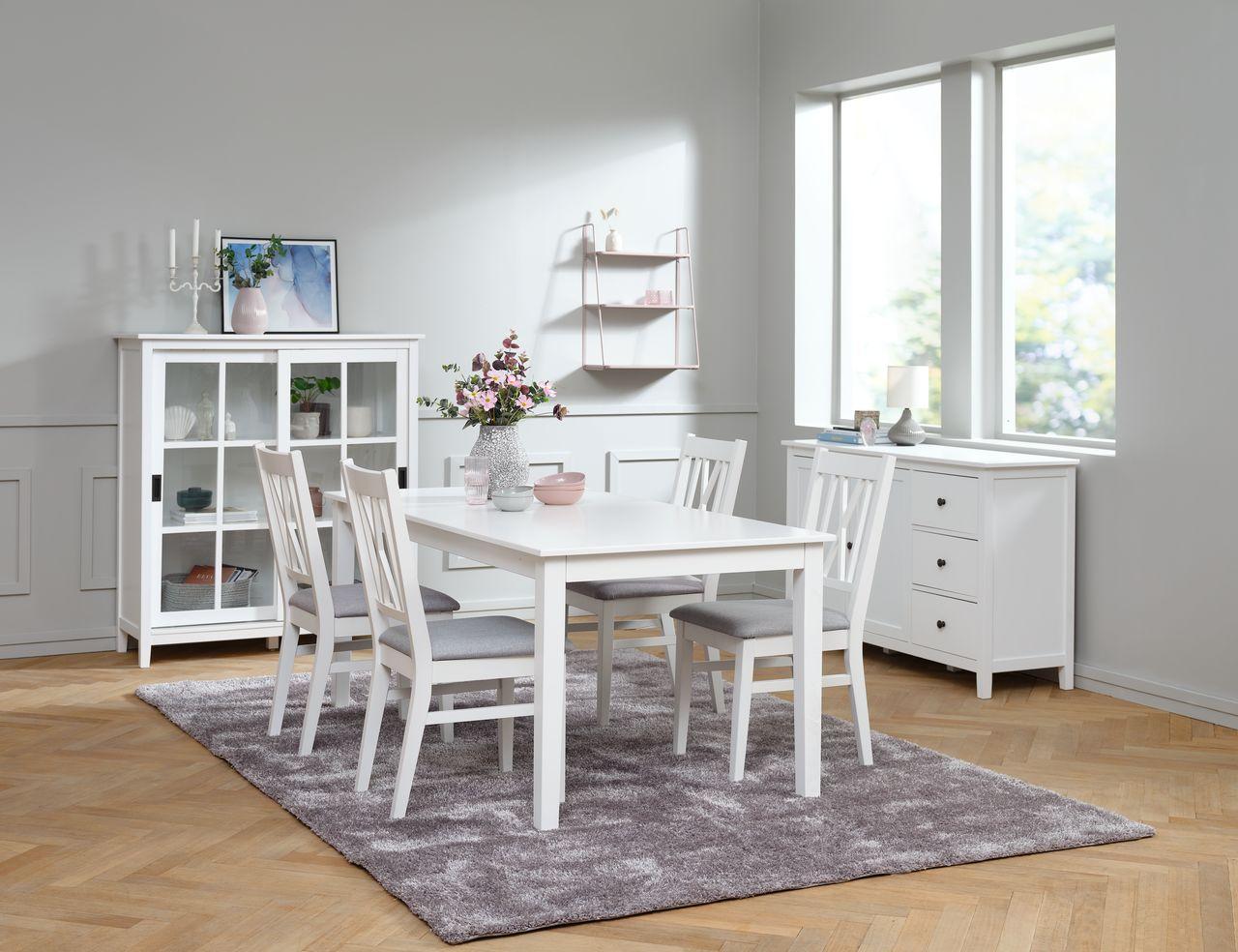 Spisebord NORDBY 90x180 hvit | JYSK