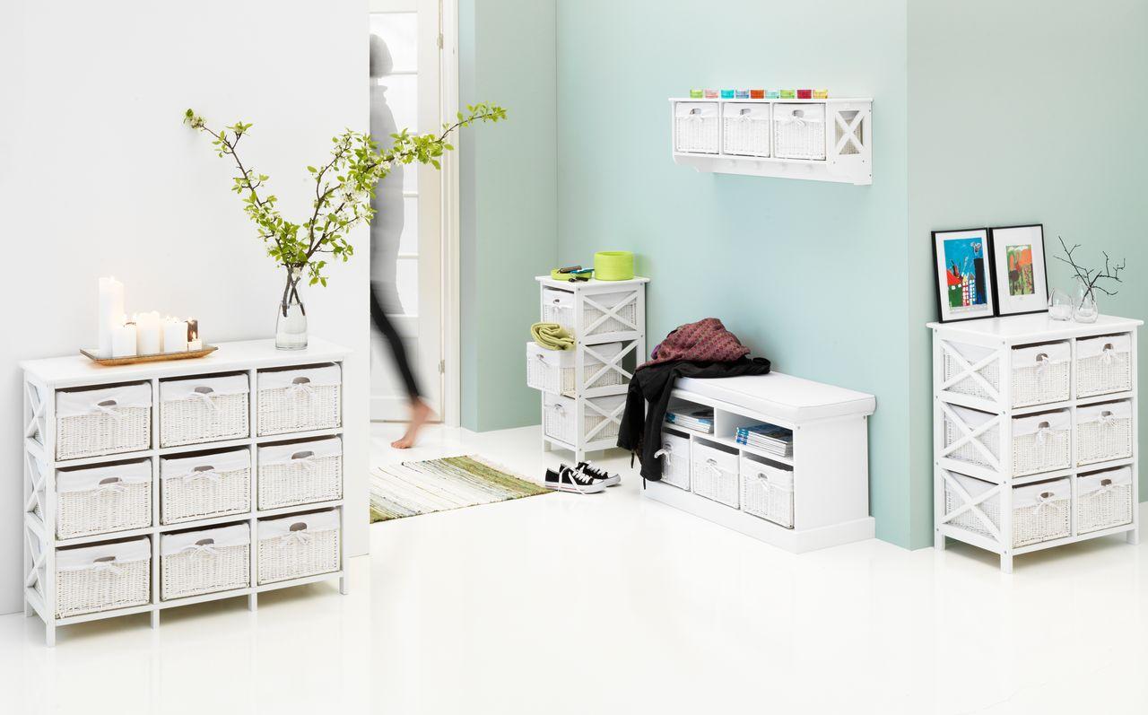 Ladenkast Voor Slaapkamer : Ladekast oure 9 manden wit jysk