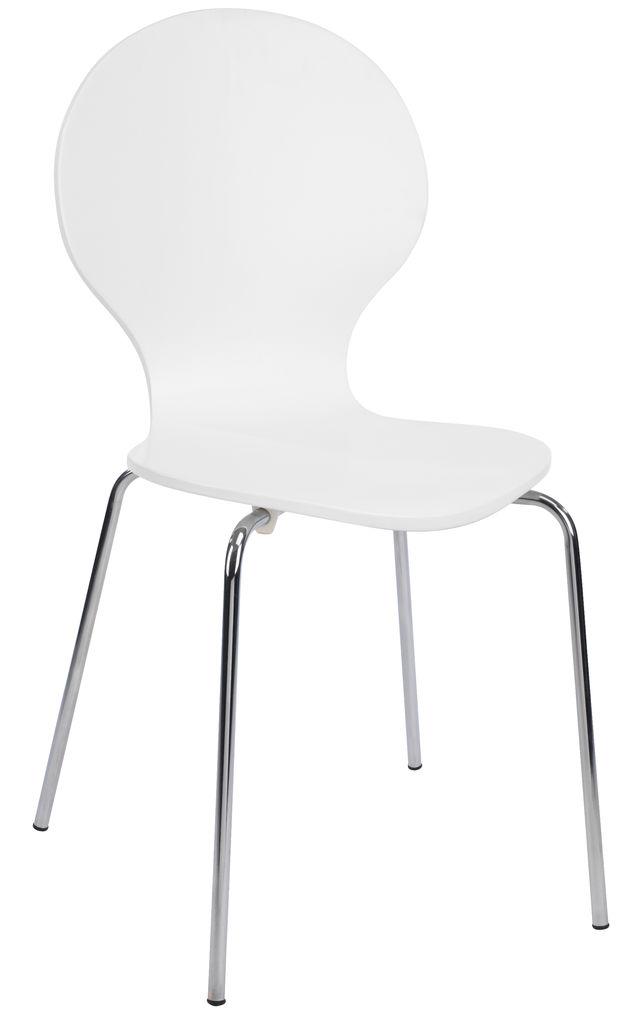 Krzeslo Tommerup Chrom Bialy Jysk