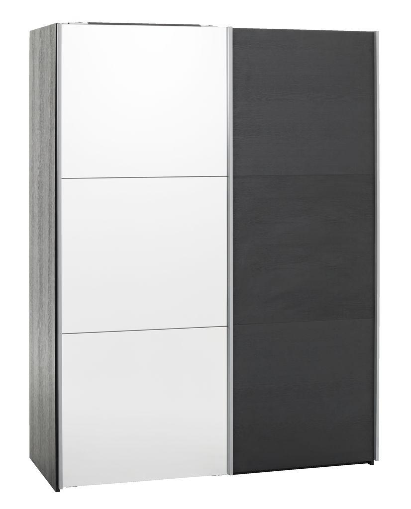 Garderob ONSTED 151×201 m spegel svart JYSK