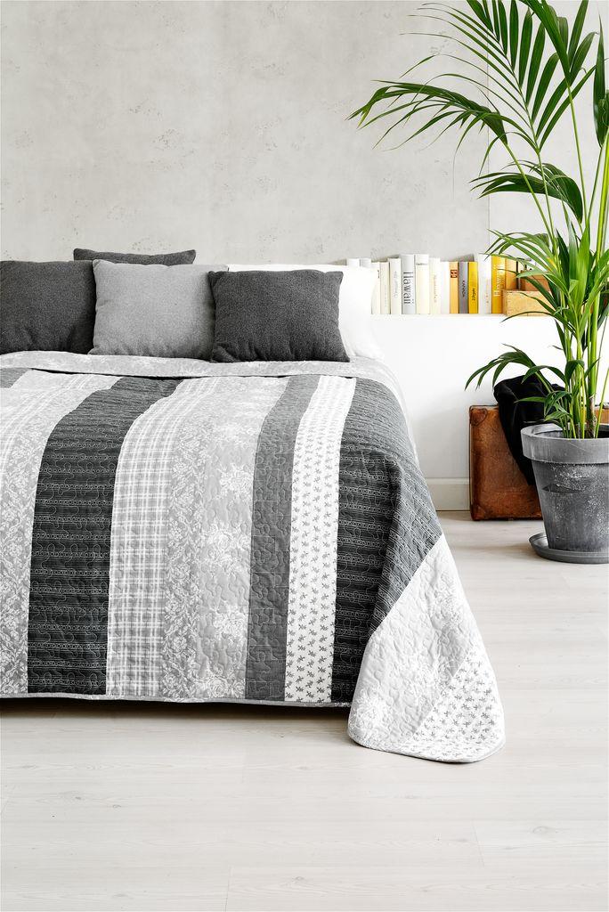 Bed Throw Kornblomst 240x260 Grey Jysk