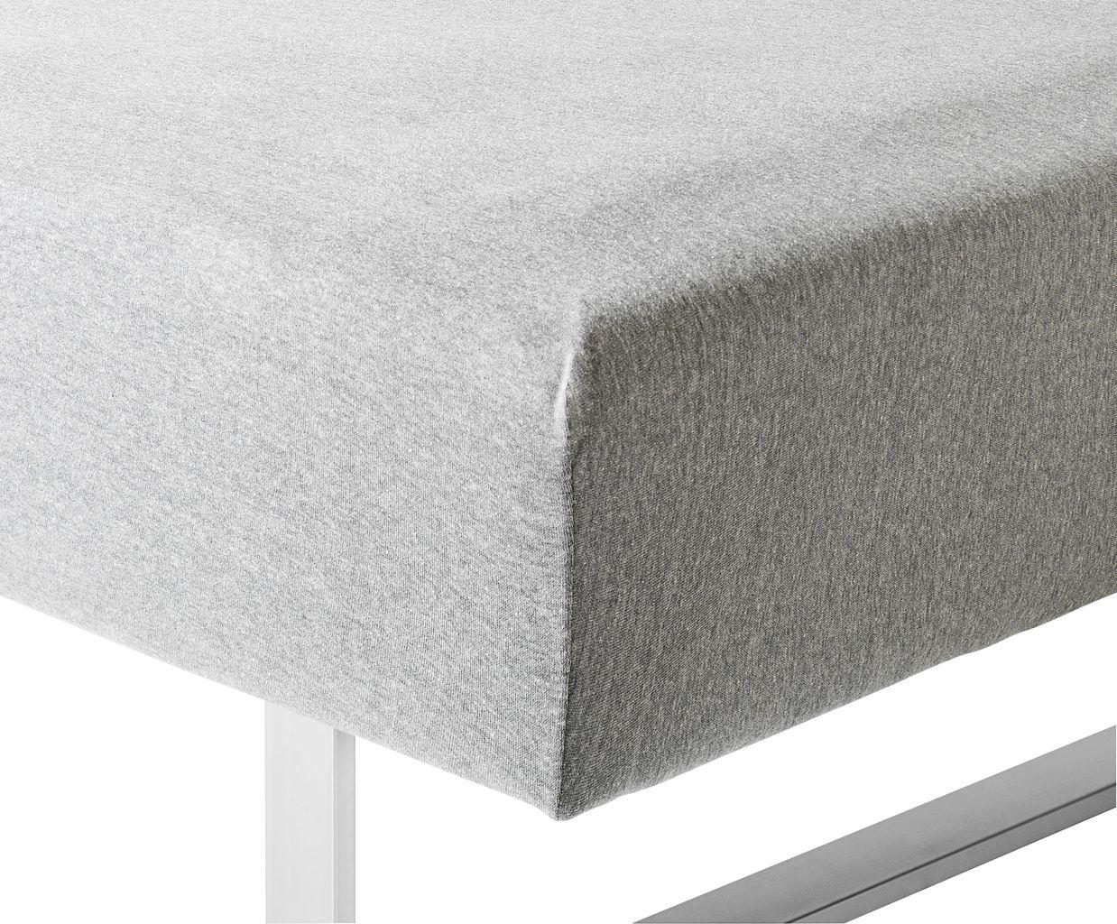 Folkekære Jerseylagen 140/150x200x40cm grå melange | JYSK QF-84