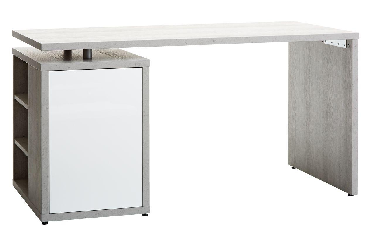 skrivebord jysk Skrivebord ULLITS 69x140 beton/hv. højg. | JYSK skrivebord jysk