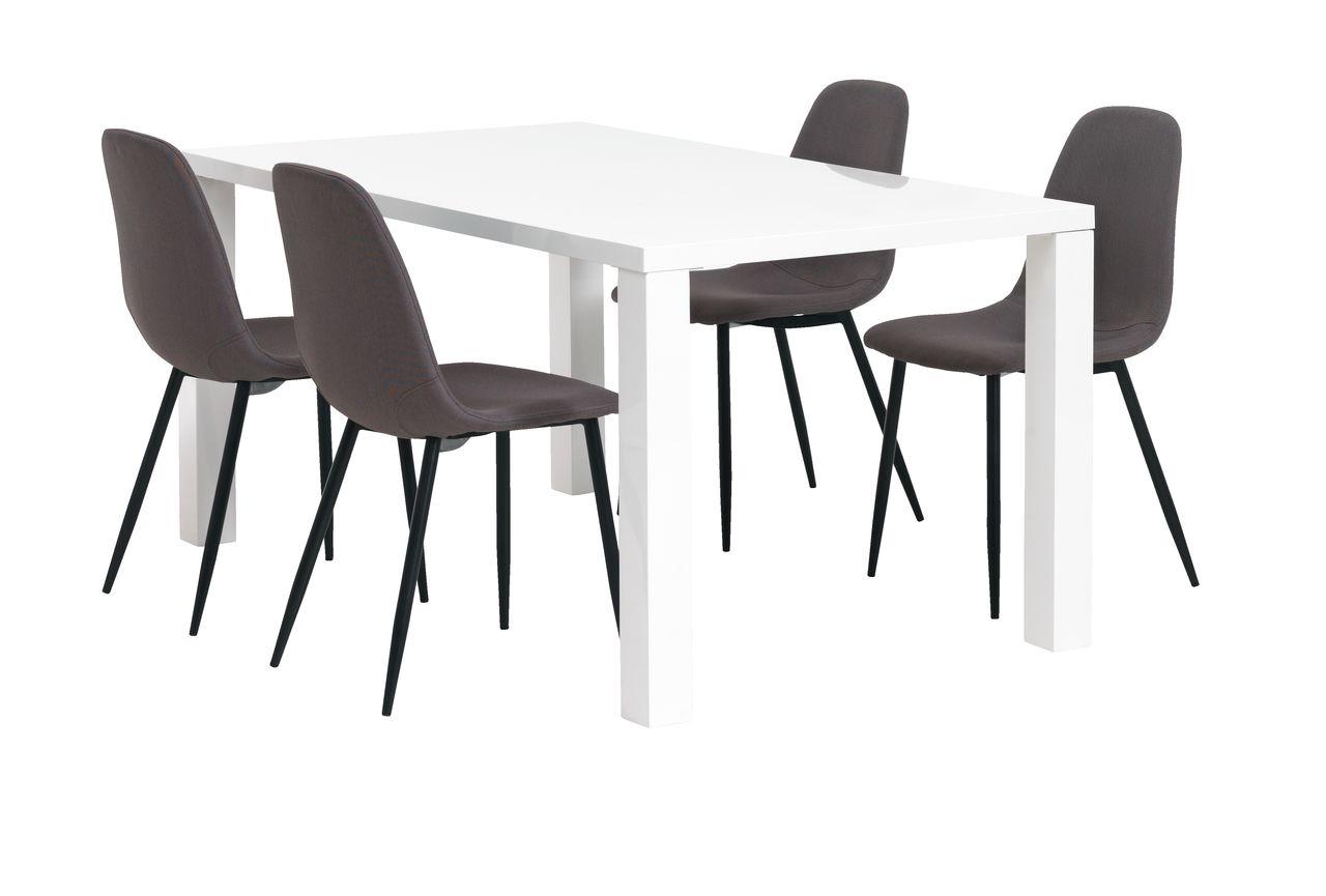 cd2fb43e5e4c7 Stôl OMME + 4 JONSTRUP sivá/čierna | JYSK