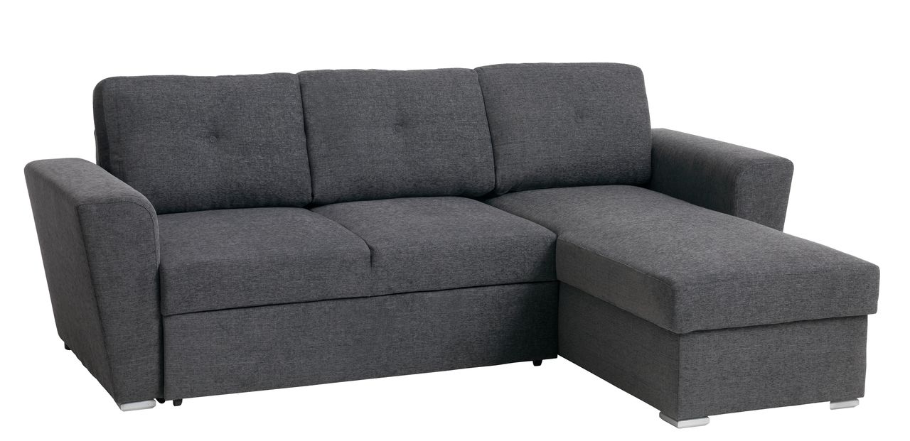 Pleasant Sofa Bed Chaiselongue Vejlby Dark Grey Inzonedesignstudio Interior Chair Design Inzonedesignstudiocom