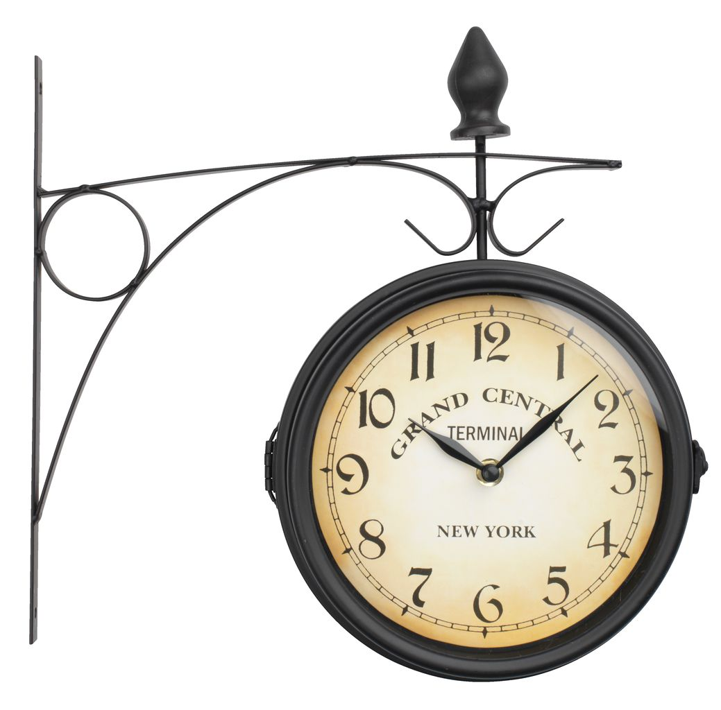 Railway Station Clock Runar D21cm Black Jysk