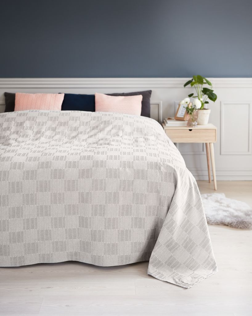 jysk sengetæppe Sengetæppe STORRAPP 160x220 grå | JYSK jysk sengetæppe