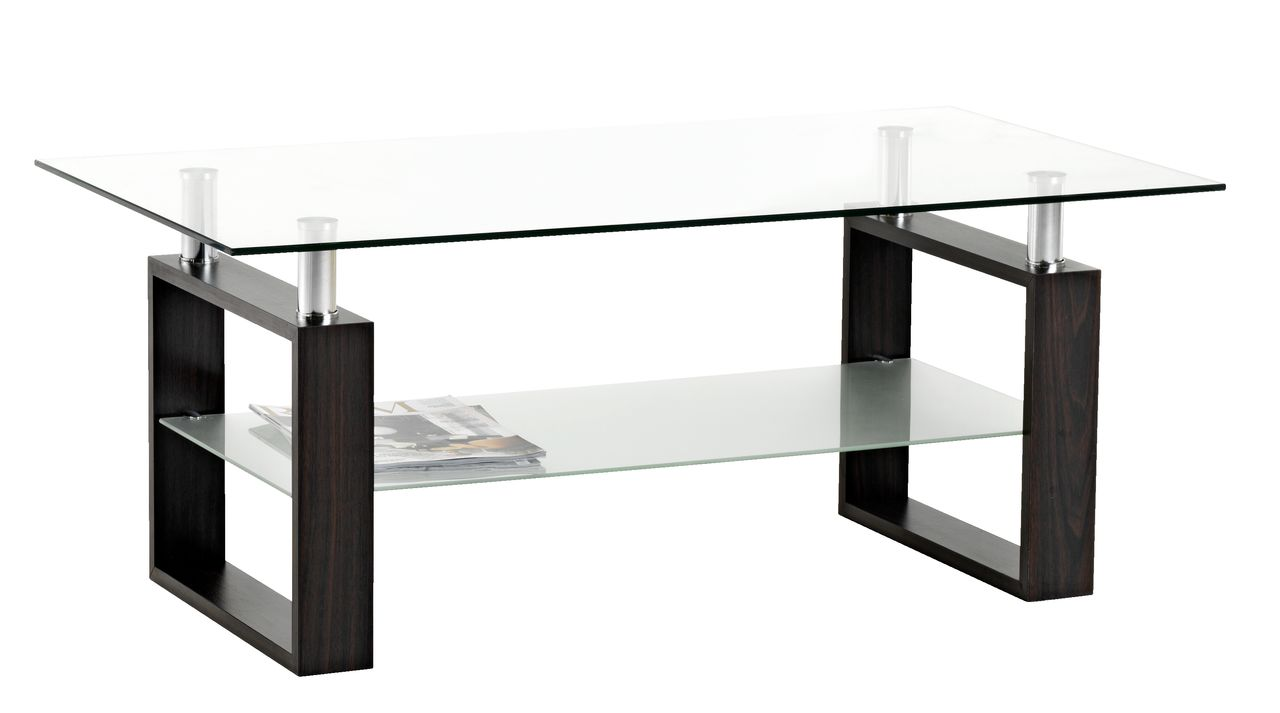 Coffee Table Nyborg 60x110 Metal Glass Jysk