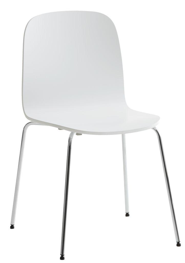 Stol Bannerup Hvit Krom Jysk