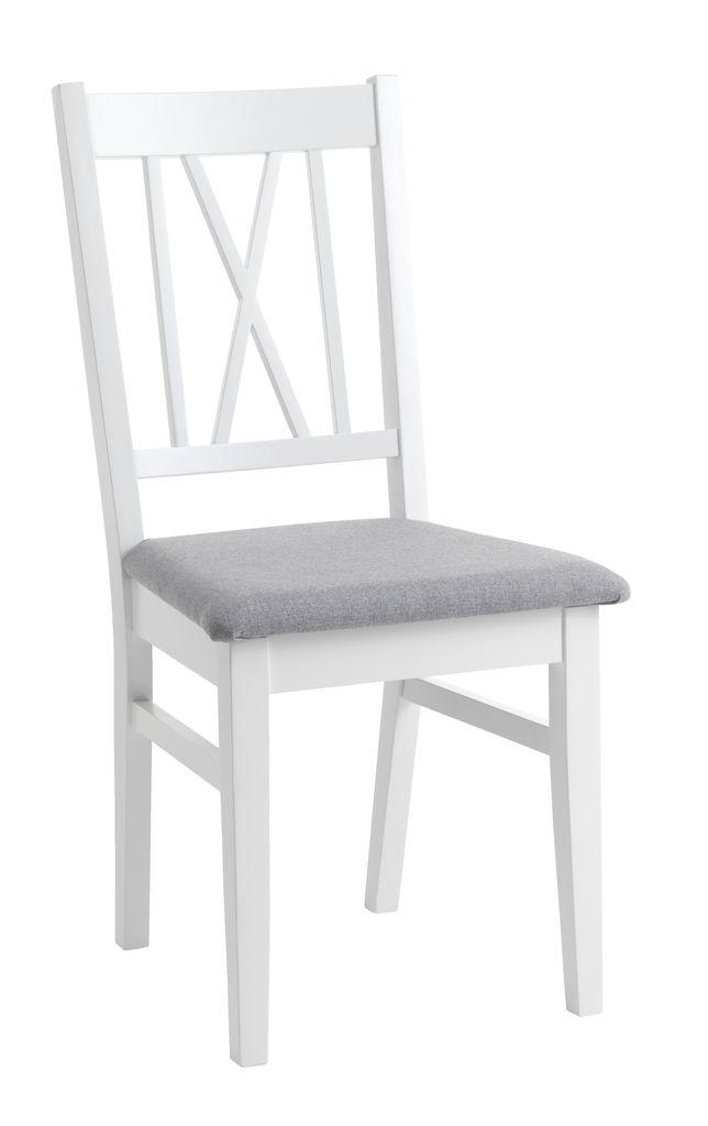 Spisebordsstol NORDBY hvid/grå | JYSK