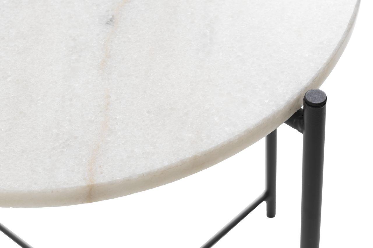 Hörnbord HAARBY Ø45 marmorsvart   JYSK