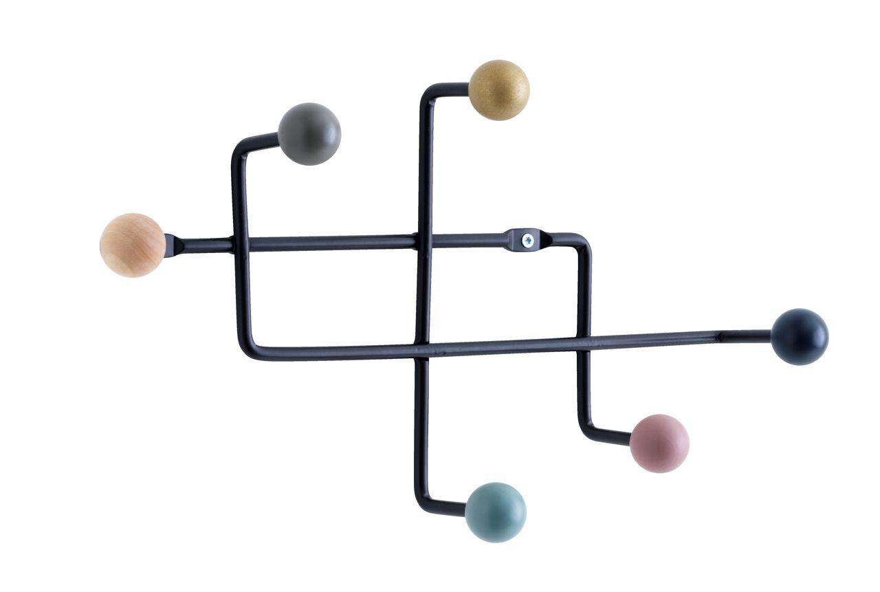 Flott Knagg GAMBY 6 fargede kroker/svart | JYSK QV-77