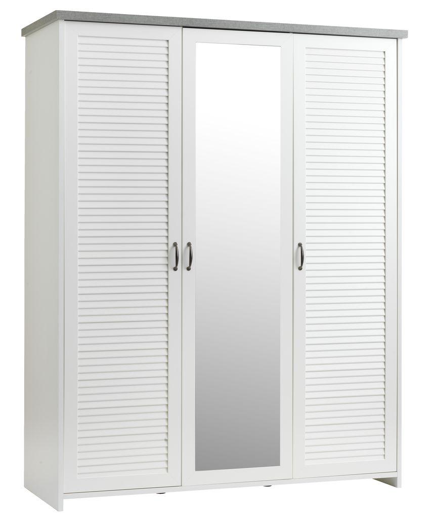 Small World Kledingkast.Wardrobe Manderup 166x210 White Concrete