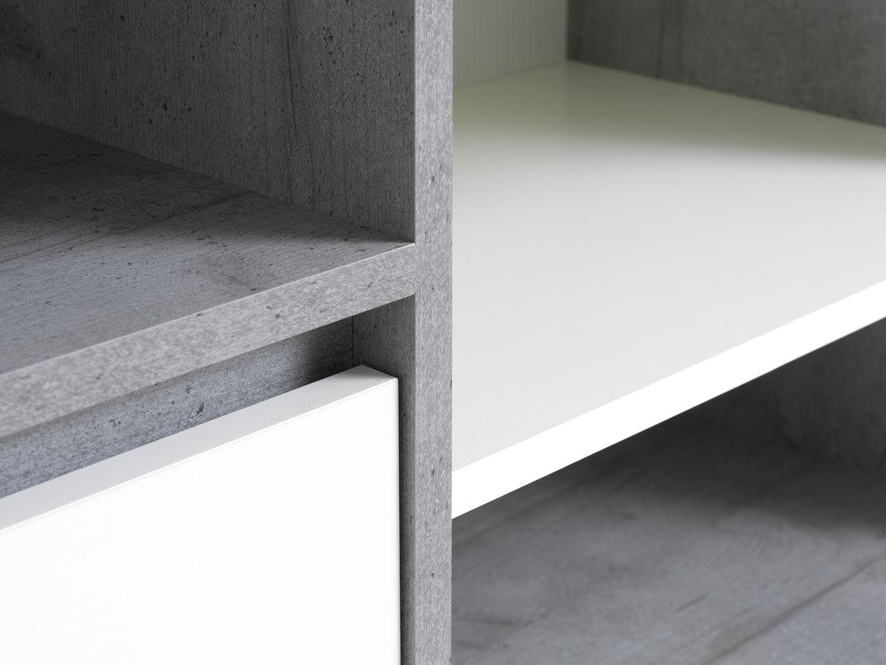 Sideboard Billund 2 Doors White Concrete Jysk