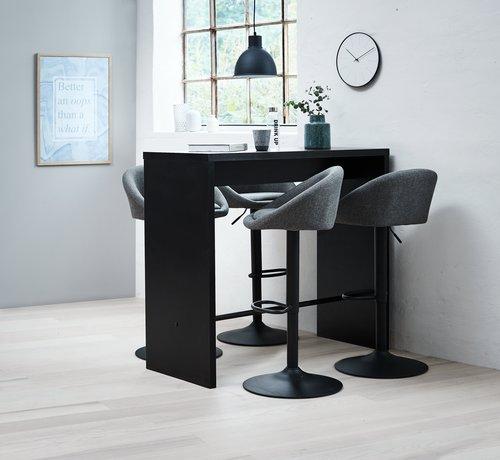 Barkruk TAULOV grijs/zwart