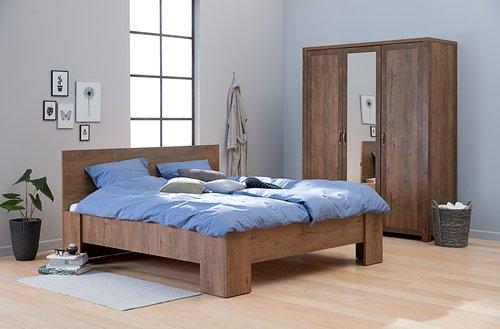 Cadru pat VEDDE 160x200 stejar sălbatic