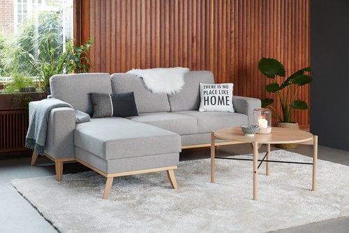 Sohvapöytä DALBY Ø80 tammi/musta