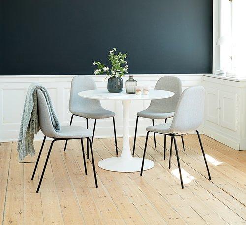 Matbordsstol LYSTRUP grå/svart