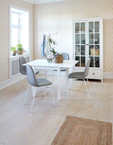 Stol LYSTRUP lys grå/hvit