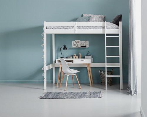 Loft bed VESTERVIG SGL white