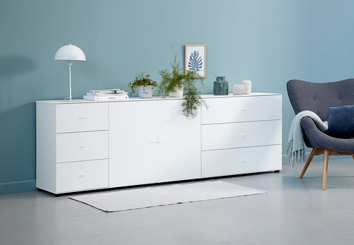 3 drawer chest BAVNEHUSE slim white