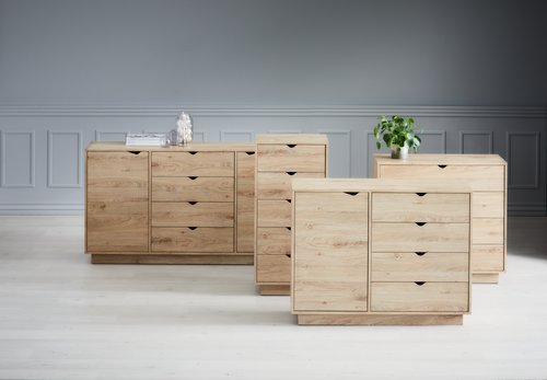 4 drw 1 dr chest MAMMEN oak