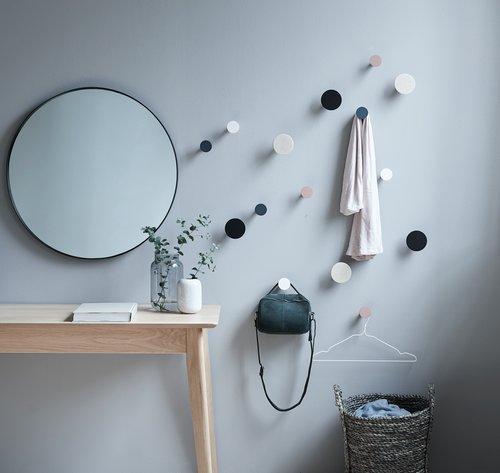 Spiegel MARSTAL Ø70 zwart