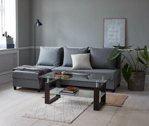 Sohvapöytä NYBORG 60x110 metalli/lasi