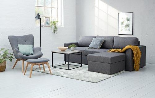 Sofá cama chaise longue MARIAGER gris o