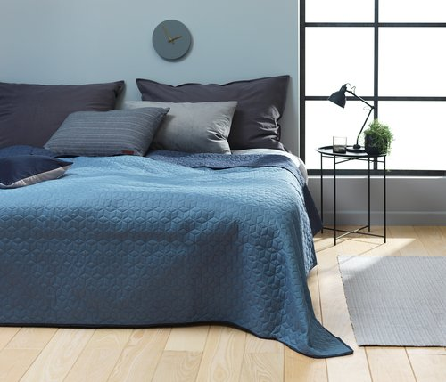 Bed throw ROSENTRE 240x260 blue