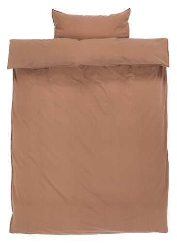 Ágyneműhuzat SANNE mosott barna