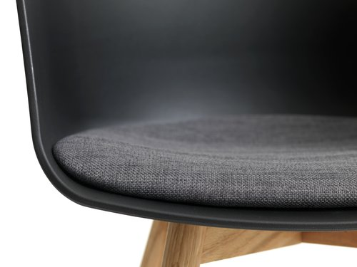 Trp.stolica FAVRBJERG crna/hrast