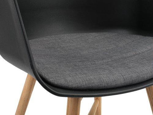 Blagov. stolica FAVRBJERG crna/hrast