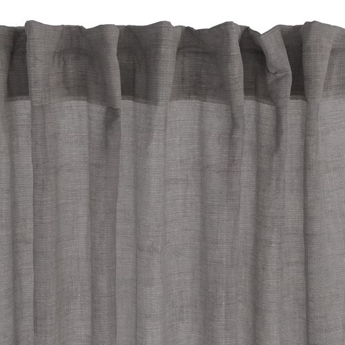 Штора UNNEN 140x300 серый/лен