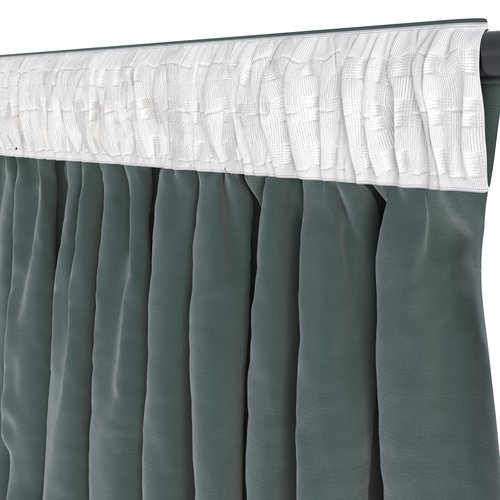 Curtain AUSTRA 1x140x245 velvet green