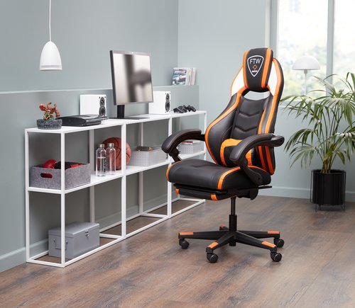 Gamingstuhl GAMBORG schwarz/orange