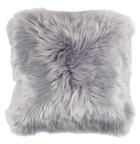 Cushion TAKS 40x40 faux fur grey