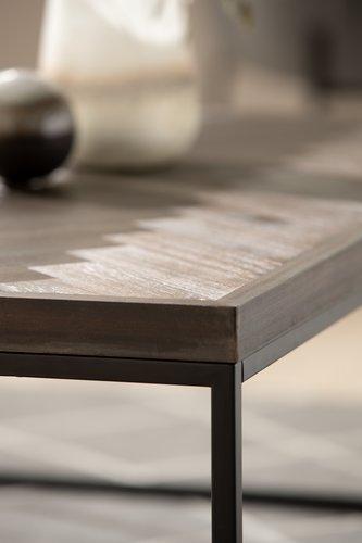 Sofabord HALSKOV 65x100 brun/sort