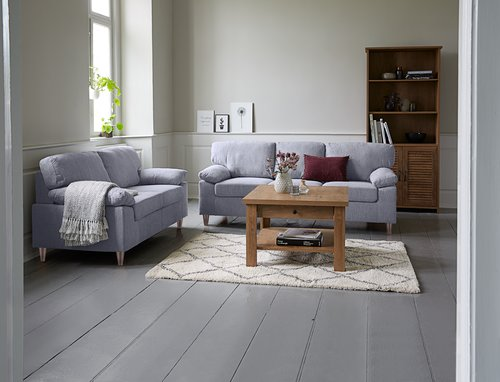 Sofa set GEDVED 2 pieces light grey