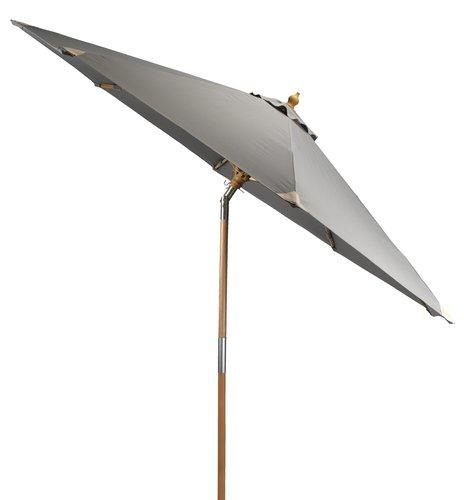 Aurinkovarjo LEMVIG Ø300 harmaa