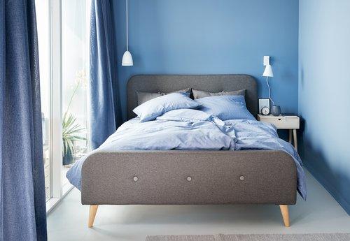 Set posteljine KATJA 200x220 cm plava